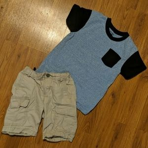 T-shirt and shorts combo 5T